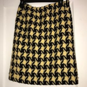 Vintage Wool Knee Length Skirt
